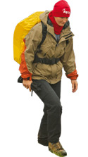 Man carrying bag om shoulders