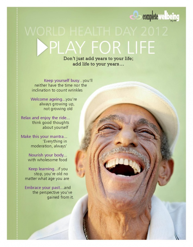 Play for Life - CW Poster for World Heath Day 2012