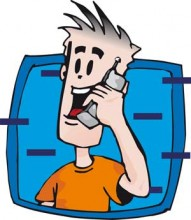 Illustration of a man on cell phone