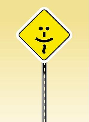 Smiling signboard