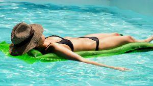 woman bathing in the sun