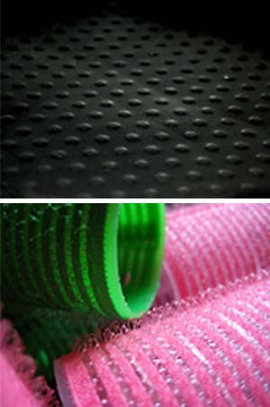 Teflon and velcro surfaces