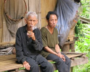 Old men smoking