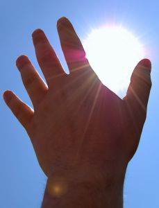 Hand in the sun