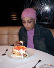 Anita celebrating her birthday, post the NDE, with a knowing that she had been completely healed