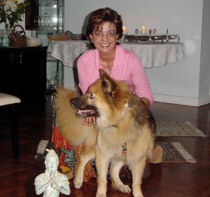 Post her NDE, she feels that children should be encouraged to celebrate their uniqueness and helped to build good self esteem. (Seen here with her dog Cosmo)