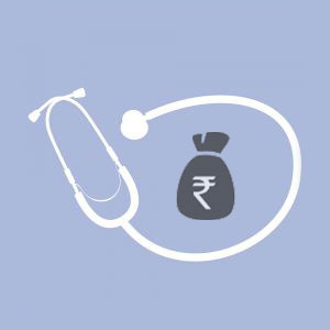 Stetoscope around a bundle of money