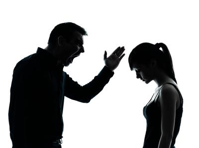 Father scolding daughter for discipline