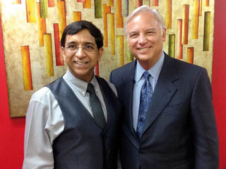 Dr Rakesh Sinha with Jack Canfield