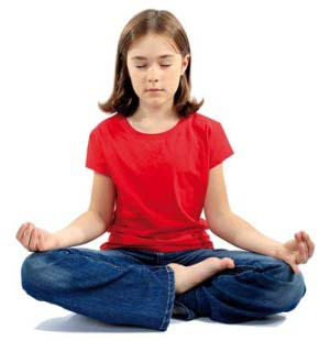 Child doing Pranayama