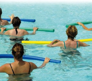 Exercises in swimming pool
