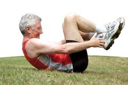 elderly man doing exercise