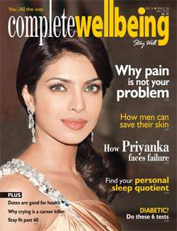 Complete Wellbeing July 2010 cover with Priyanka Chopra