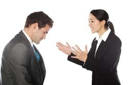 woman angry at colleague