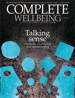 Complete Wellbeing September 2013 issue cover -- Communication