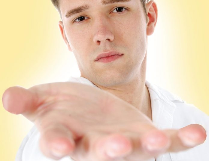 Man demanding
