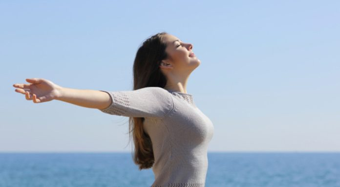 Woman with stressfree life