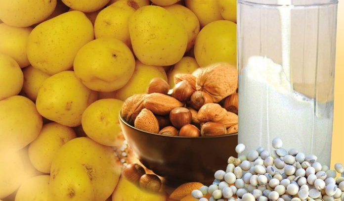 Nuts, Milk, soya, potato