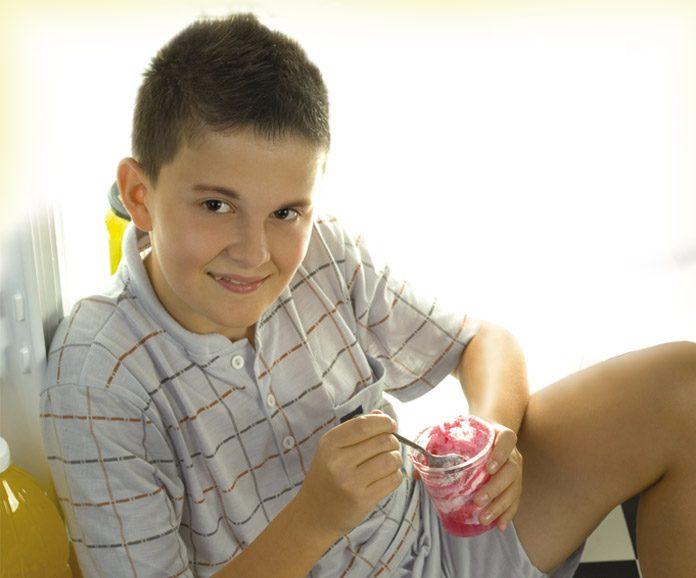 Boy having ice-cream