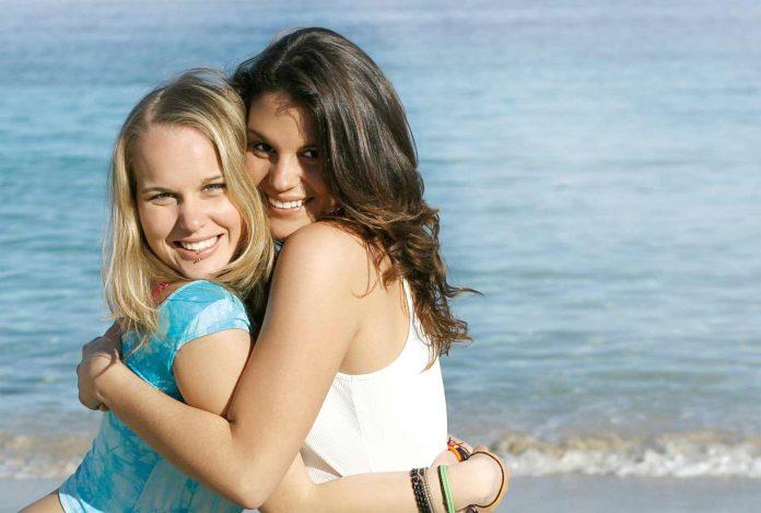 Women giving hug