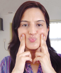 Facial Exercises: Naso-labial lines and corners of mouth