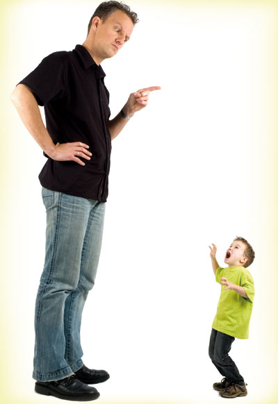 Father shouting at his son