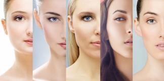 part faces of women with different skin types