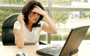 Woman having an headache