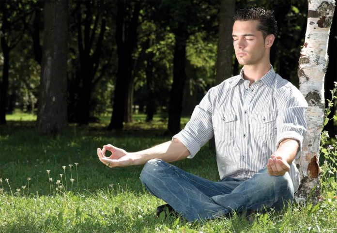 Man doing meditation