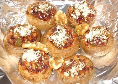stuffed mushrooms with walnuts recipe