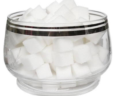 Bowl of sugar blocks
