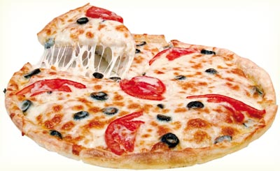 Large size pizza