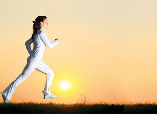 Woman jogging early morning