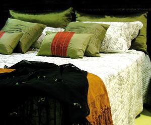 Pillows on the mattress