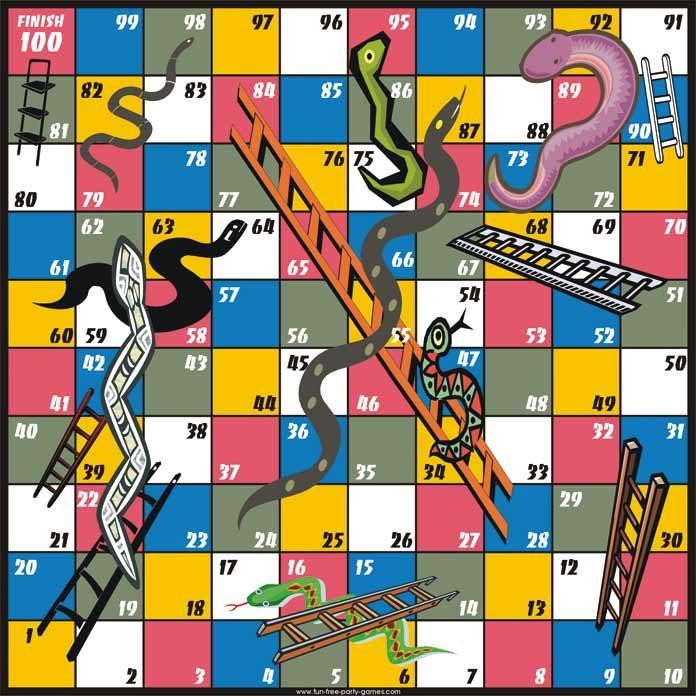Snakes & Ladders board