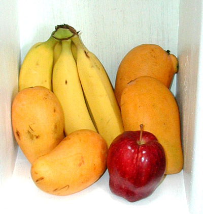 Banana, Mango and Apple
