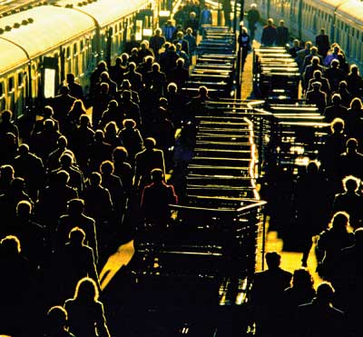 Crowd in the station