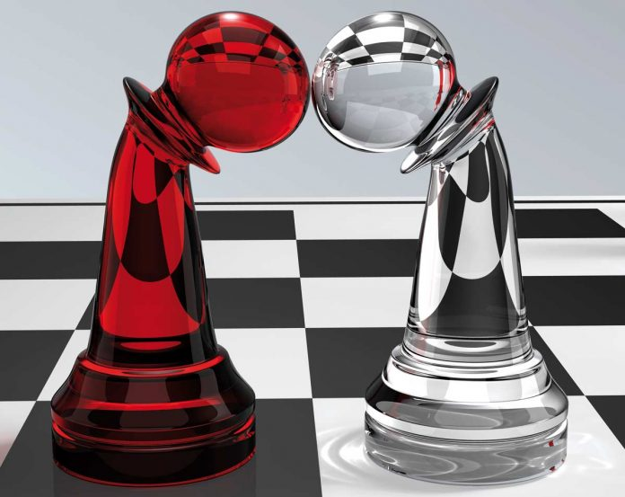 Chess pieces caught in a deadlock