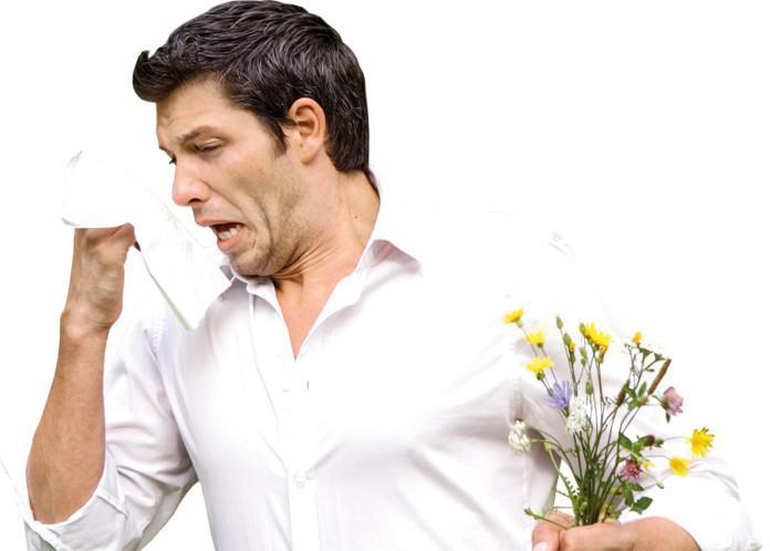 Man allergic to flowers
