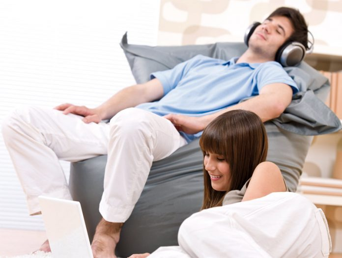 Man and woman relaxing