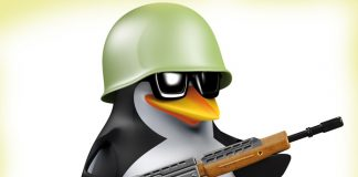 Penguin with a gun