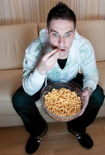 Man eating fries