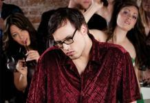 man alone in party, introvert loner