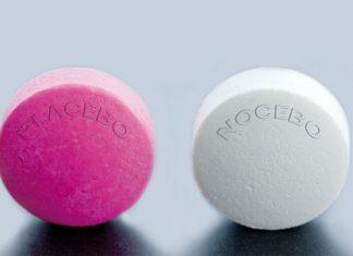 Placebo Nacebo pills concept