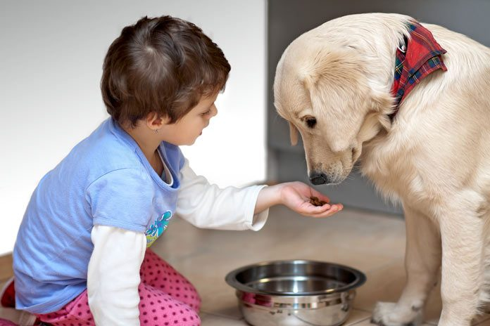 Pet with kid