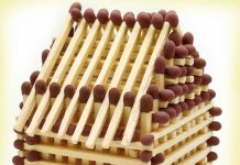 House made of match sticks