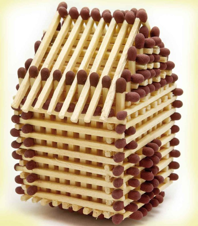 House made of match sticks
