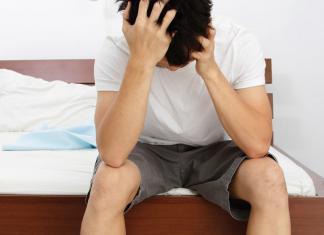 Man woke up with a disturbed sleep