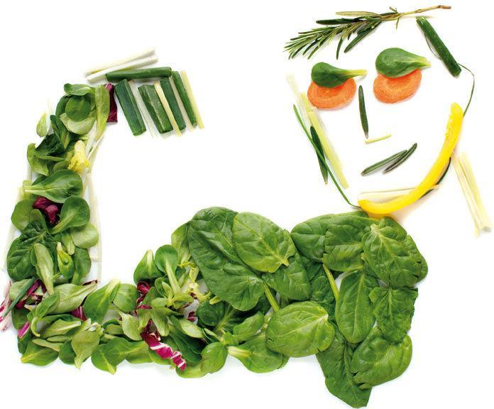 Man's portrait using vegetables