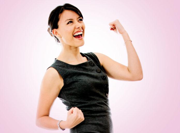 Women rejoicing after success
